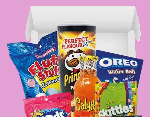 Amerikanische Süßigkeiten Box